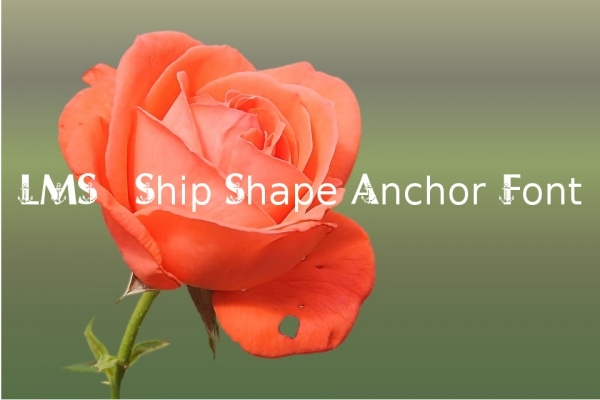 LMS Ship Shape Anchor Font