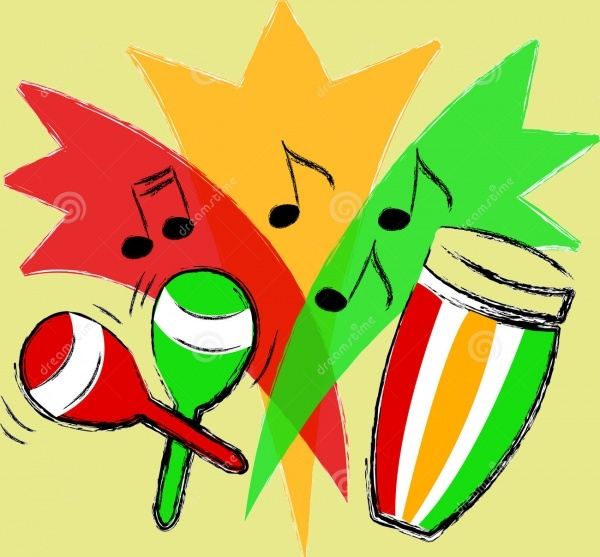 Latin Music Instrumental Clipart