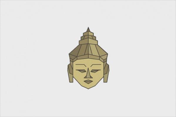 Lounge Origami Calm Buddah Logo