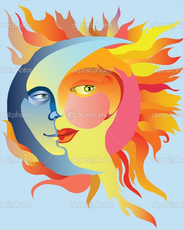 Love Sun Clipart Design