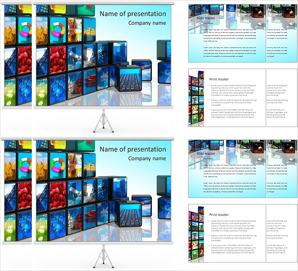 media technologies powerpoint template