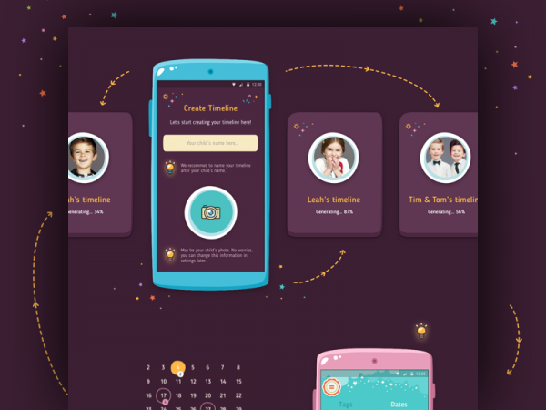 Mobile Baby App calendar