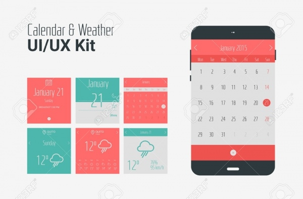 Mobile Weather App & Calendar design