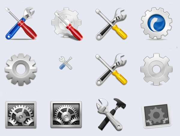 Modern Flat Setting icons