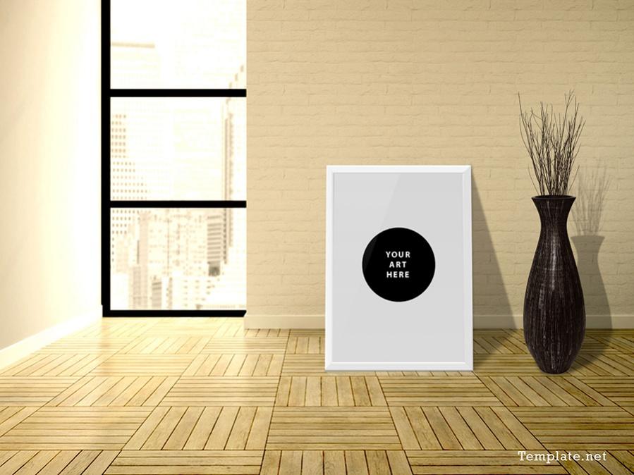 modern poster mockup for designers