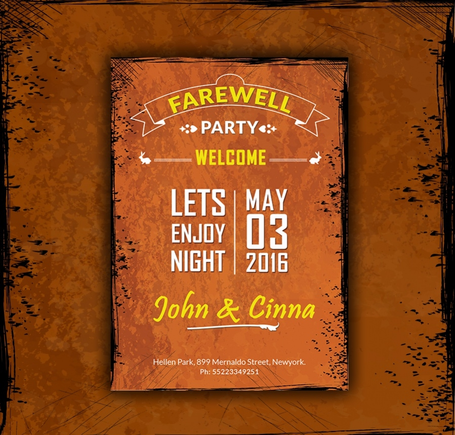 most popular farewell party invitation
