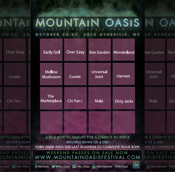 Mountain Oasis Bingo Cards