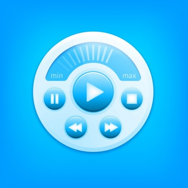 Multimedia player Stop Button