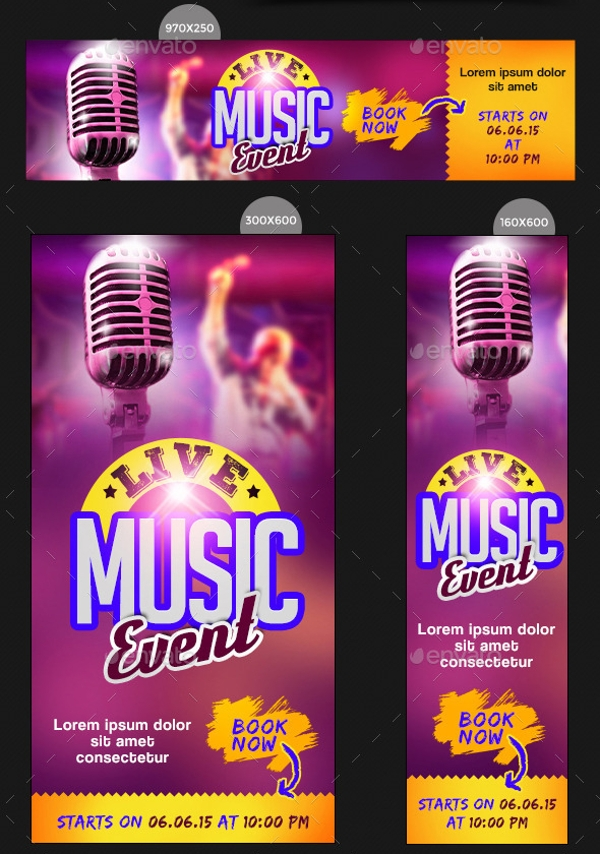 Music Event Banner Design