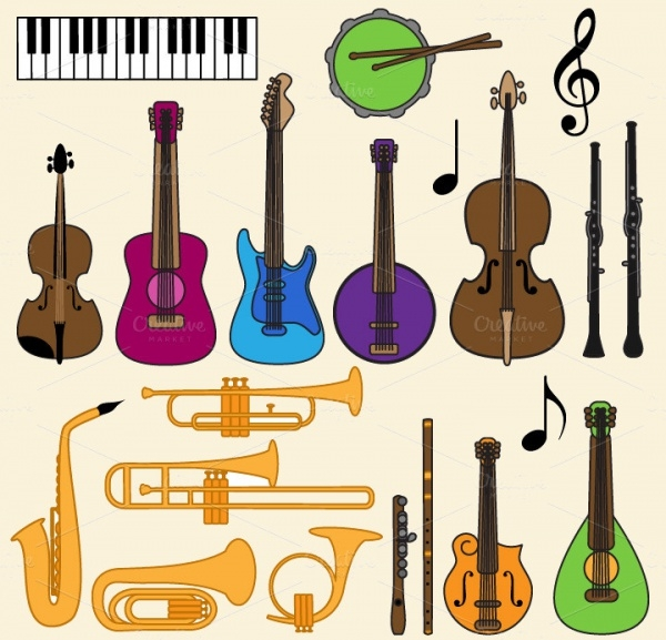 Music Instrumental Clipart