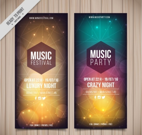 Music Partty BAnners
