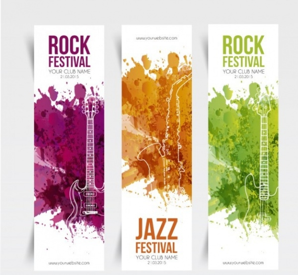 Music School festival banners