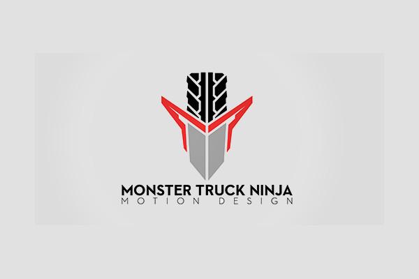 Ninja Sword Tire Truck Logo
