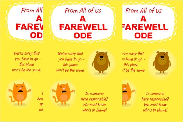 15+ Farewell Card Designs - Psd, Ai Illustrator Download