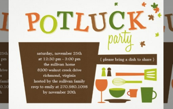 Office Potluck Invitation