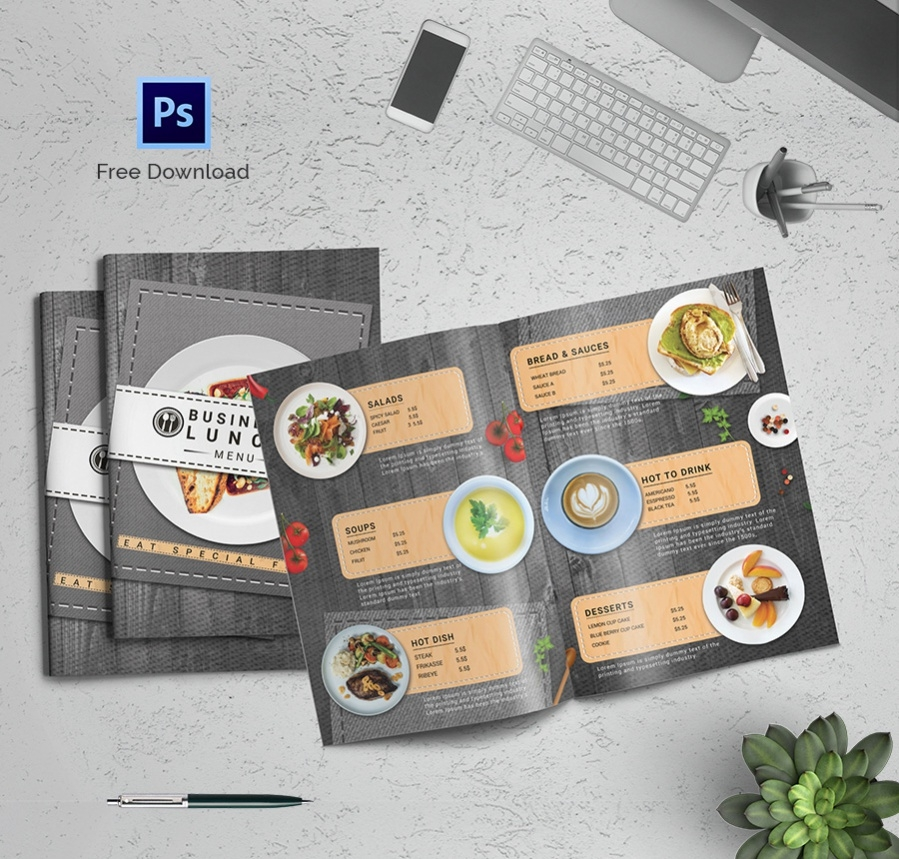 official lunch menu meal template