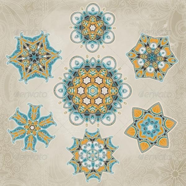 Ornate Snowflake Vector Set