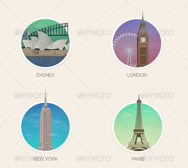 PSD City Vector Icons