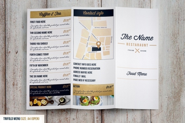 PSD Menu Card