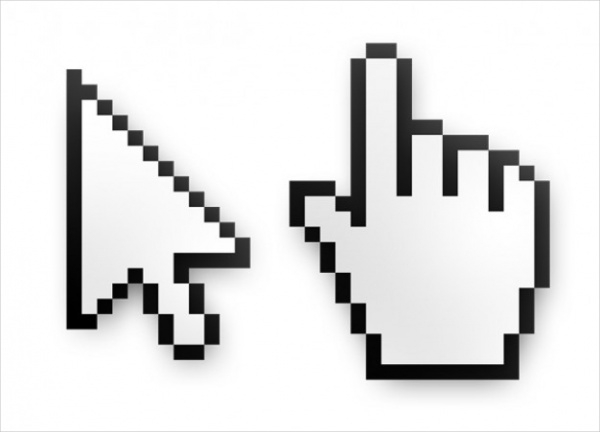 PSD Mouse Cursor & Hand Pointer Icons