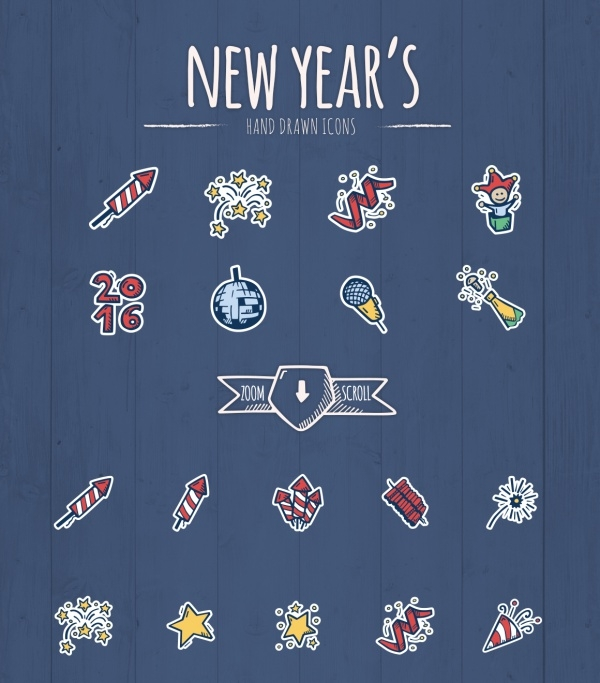 PSD New Year Icons