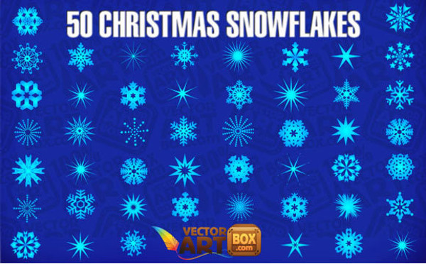 Pack of 50 Snowflakes Vector
