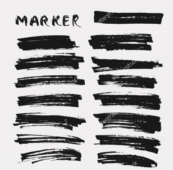 Paint markers Brush set