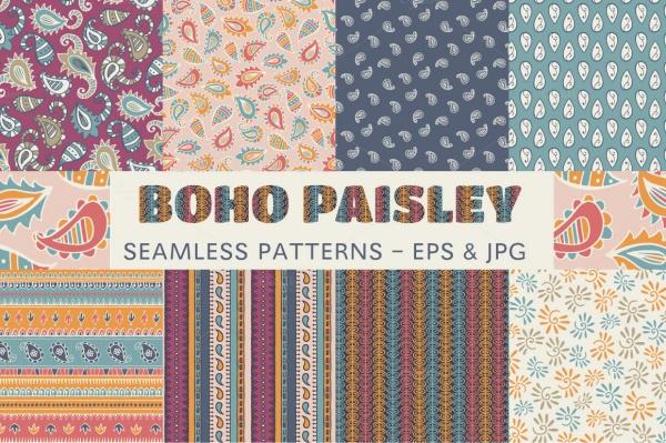 Paisley Style Bohemain Pattern