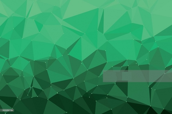 Pale Green Shiny Polygon Pattern