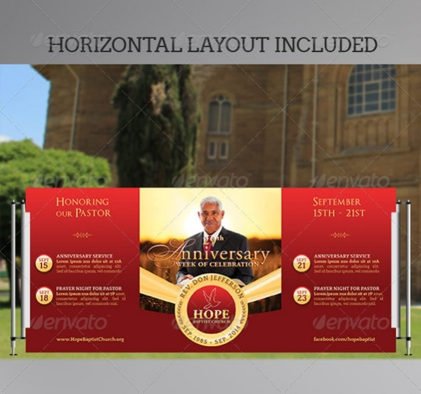 Pastor Outdoor Pop Up Banner