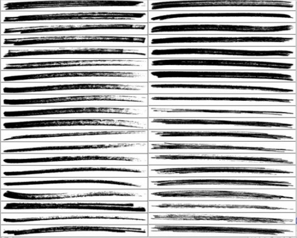 Pen Strokes Marker Brushes Vector