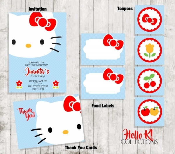 Personalized Hello Kitty Invitation