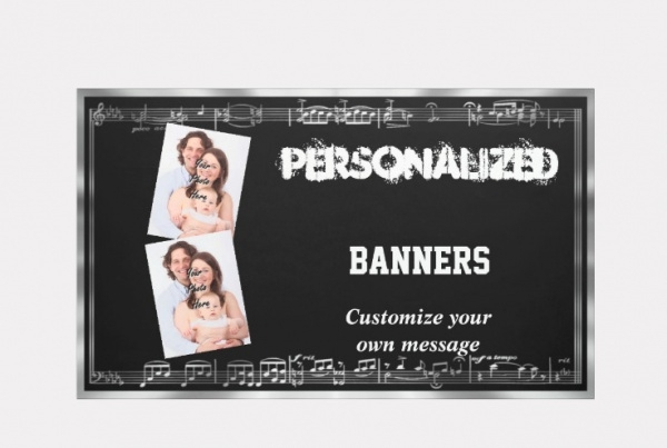 Personalized Musical Event Banner