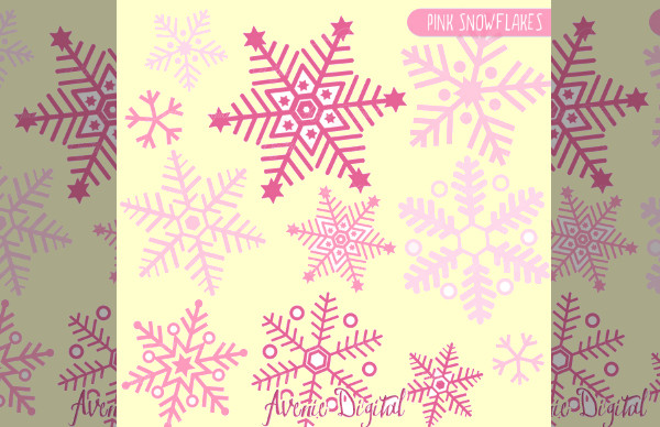 Pink Snowflakes Clip art