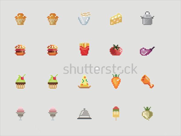 Pixel Food Icons