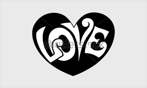 pop art love retro heart clipart