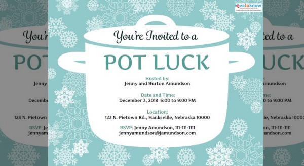 Potluck Birthday Invitation