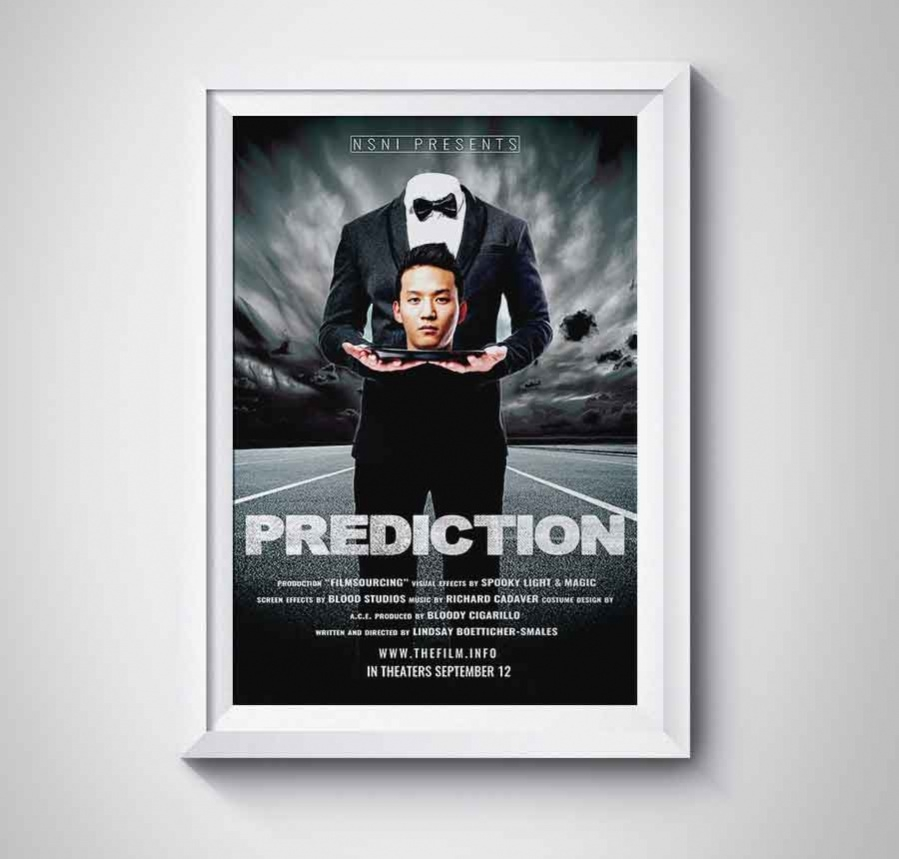 prediction movie poster template