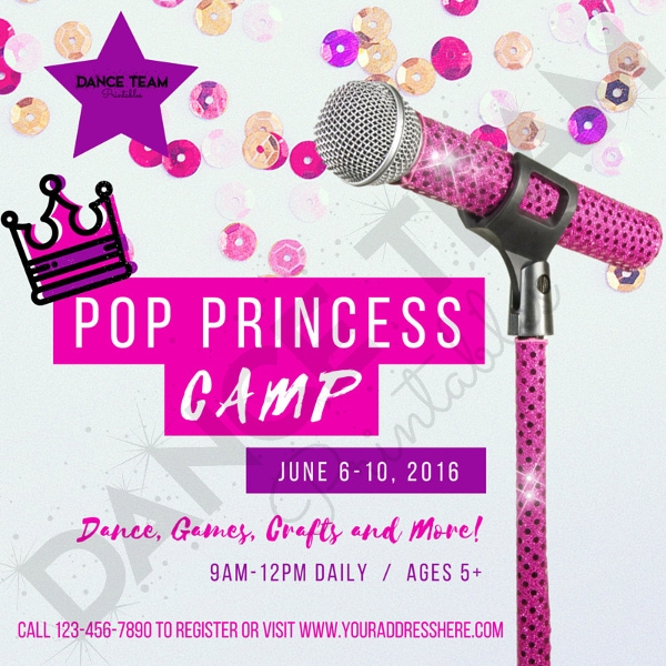 Princess Social Media Advertising Flyer