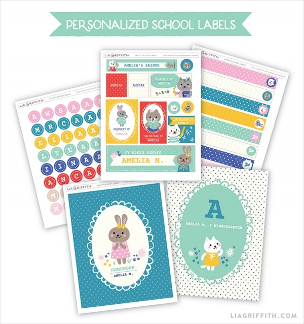 Printable BAck to School Label
