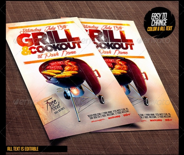 Printable Cookout Cool Flyer