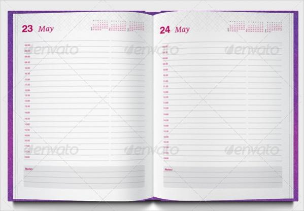 Printable Daily Calendar Design