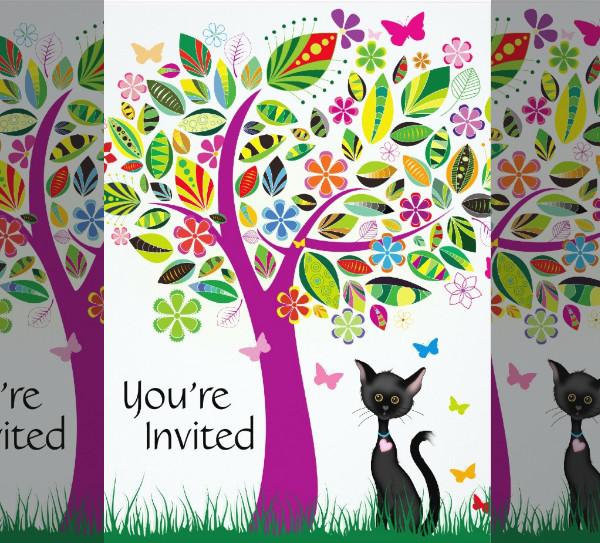 Printable Invitation for Hello Kitty