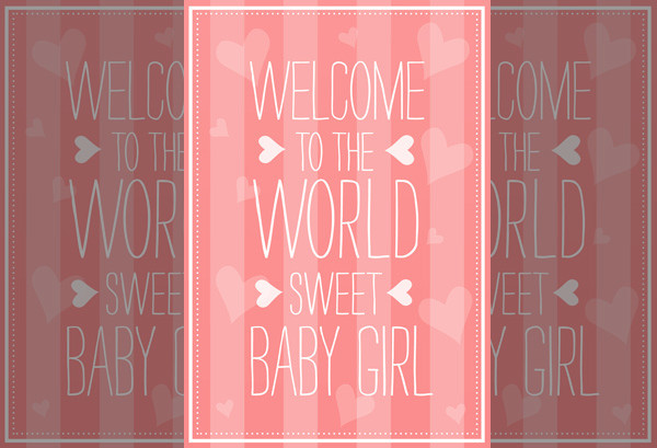 Printable New baby Greeting Card