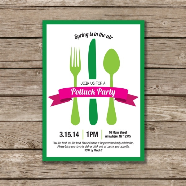 Printable Potluck Invitation
