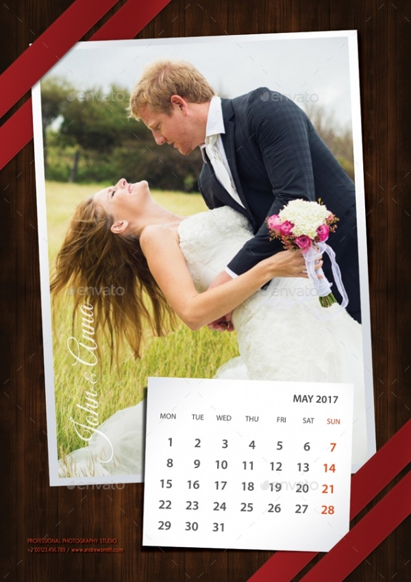 Printable Wedding Calendar