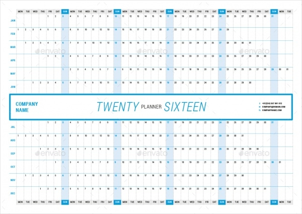 Yearly Calendar Templates Psd Vector Eps Download
