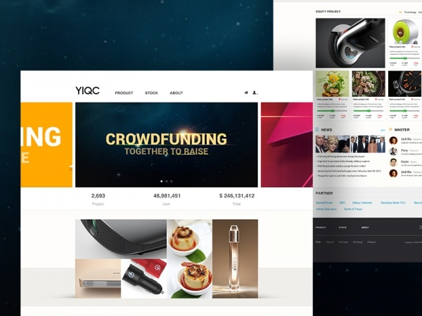 Product UI Web Design Banners