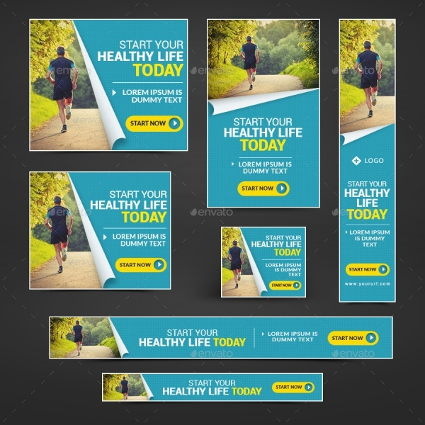 professional fitness banner design