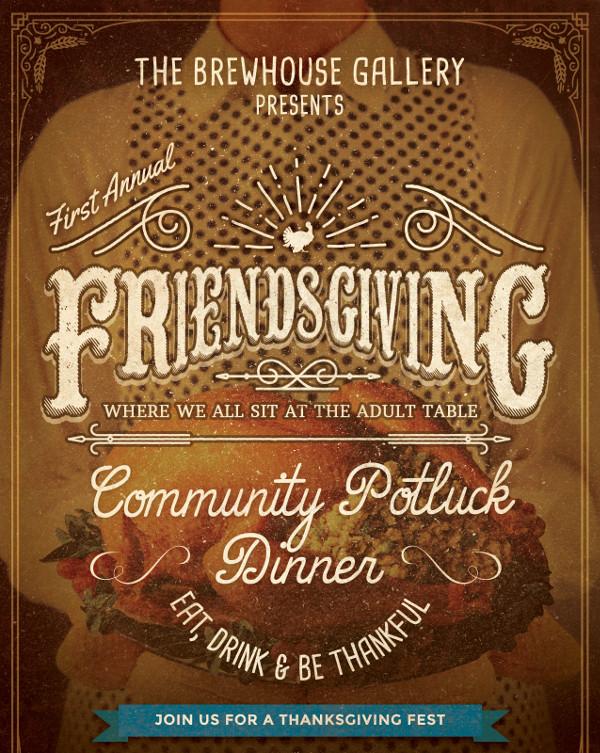 Professional Friendsgiving Invitation